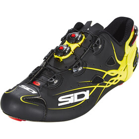 Sidi Shot Scarpe Uomo, matt black/yellow fluo